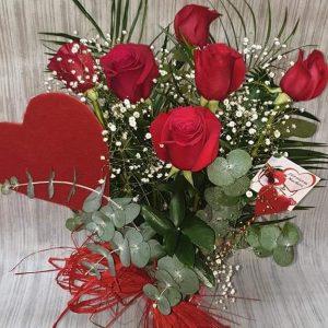 Ramo de rosas- Latido corazon - floristeria macheri jerez