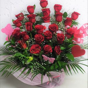 -DULCE-MIA- Ramo de rosas rojas Floristeria Macheri